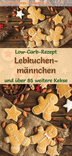 Low-carb Christmas biscuit recipe for gingerbread men: low-carb, low-calorie Christmas biscuits - ba Easy Smoothie Recipes, Easy Cookie Recipes, Christmas Biscuits, Christmas Cookies, German Cookies, Coconut Milk Smoothie, Homemade Frappuccino, German Christmas, Low Calorie Recipes