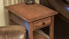 End Table with Remote Drawer - buildsomething.com Woodworking End Table, Woodworking Tools List, Woodworking Furniture, Furniture Plans, Diy Furniture, Woodworking Projects, End Tables With Drawers, Diy End Tables, End Tables With Storage