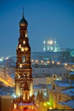 Богоявленская колокольня (1897) Высочайшая из всех старинных построек города: 74 м.