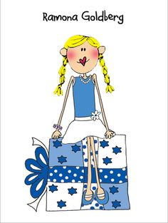 The Chanukah Girl Foldover Note Cards