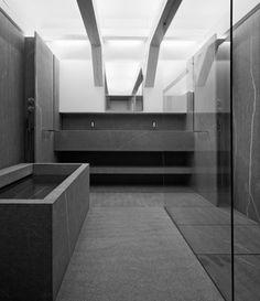 Spacial and well designed bathroom  #bathroom #greybathroom