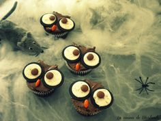 HALLOWEN'S OWLS cupcake and oreos