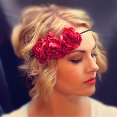 Customizable Blooming Gatsby 20s Inspired headband by AliceInBloom on Etsy, $22.00