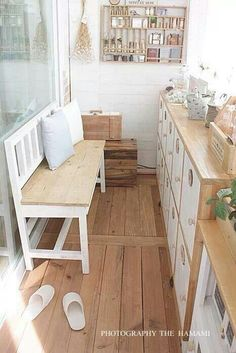 ♥ Dining Bench, Living Spaces, Home And Garden, Storage, Wood, Furniture, Interiors, Beach, Home Decor