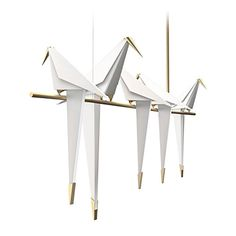 SUNWE Moooi Modern Birds Pendant Lighting 5 Light White * To view further for this item, visit the image link. (Note:Amazon affiliate link)