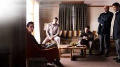 Ron Livingston, Benjamin Walker, Rob Corddry, Adam Pally and Stephanie Sigman in Shimmer Lake (6)