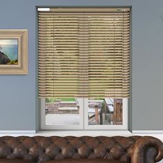Controliss 6V DC battery Powered Soho Satin Wheat Venetian Blind. #Home #HomeDecor #InteriorDesign #Decor #VenetianBlinds  #CreateYourHome #BudgetBlinds #WindowShades #Window  #Design #Blind #WindowCoverings #Windows #MadeinUK