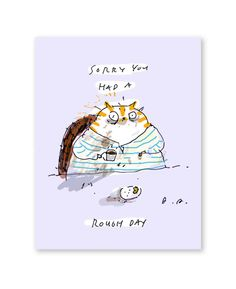 Sorry you had a rough day cat card by jamieshelman on Etsy, $4.95