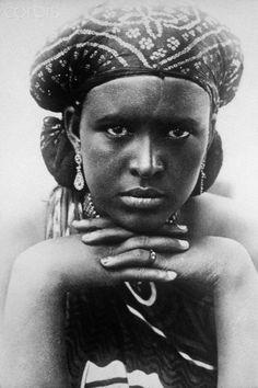 A portrait of a beautiful Somali woman, Somaliland, 1920s.