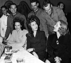 Linda Darnell, Ann Miller and Marlene Dietrich at a Book Party,