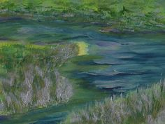 Marsh Bend By Frank Bright -Acrylic on Board