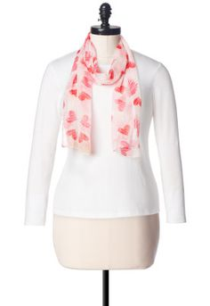 Wear your heat around your neck with the Sketch Hearts scarf - Christopher & Banks