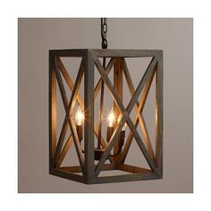 Cost Plus World Market Gray Wood and Iron Valencia Chandelier ($130) via Polyvore featuring home, lighting, ceiling lights, iron lamp, black iron lamps, black chandelier lighting, black lamp and black ceiling lights