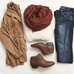 95 Comfy Fall Outfits That You Will Absolutely Love Casual Outfits, Cute Outfits, Fashion Outfits, Womens Fashion, Fashion Coat, White Fashion, Fashion Styles, Fashion Tips, Fall Winter Outfits