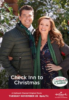 """Wes Brown and Rachel Boston star in """"Check Inn to Christmas,"""" airing November Be a part of our anniversary of Countdown to Christmas! Xmas Movies, Family Christmas Movies, Hallmark Christmas Movies, Hallmark Movies, Family Movies, Good Movies, Holiday Movies, Lifetime Movies, Hooray For Hollywood"""