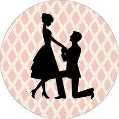 Noivado em Paris – Kit Completo com molduras para convites, rótulos para guloseimas, lembrancinhas e imagens! | Fazendo Minha Festa Casamento