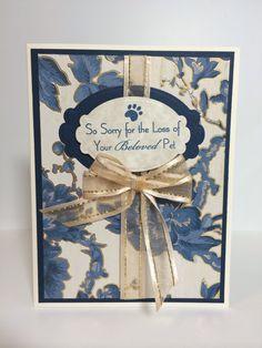 Loss of pet sympathy card-AS (spellbinders dies, MFT Stamps)