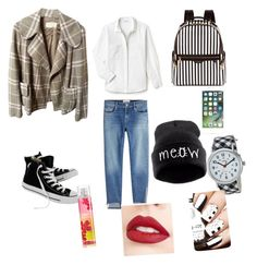 """""""Untitled #72"""" by explorer-14658124696 on Polyvore featuring Frame, Lacoste, Burberry, Converse, Henri Bendel, Timex and Jouer"""