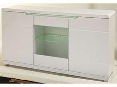 Buffet BEL AIR coloris blanc - Vente de Buffet, bahut, vaisselier - Conforama -Longueur 151 cm -Hauteur 84 cm -Profondeur 39 cm 379€