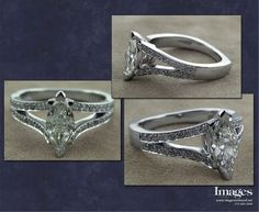 split shank marquise engagement ring - Google Search