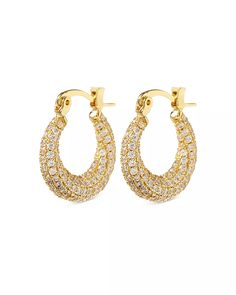 Luv Aj - Mini Martina Pavé Hoop Earrings