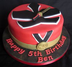 Power Rangers Samurai Birthday Cake