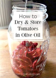 Tomatoes Pruning Drying Tomatoes-how to dry and store tomatoes in olive oil - A tutorial for the time-honored tradition of safely drying tomatoes and storing in olive oil at room temperature without canning. Dehydrating Tomatoes, Canning Tomatoes, Tomato Canning Recipes, Canning 101, Canning Food Preservation, Preserving Food, Make Sun Dried Tomatoes, Growing Tomatoes, How To Preserve Tomatoes