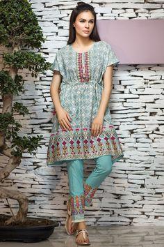 Khaadi 2 Piece Stitched Embroidered Lawn Suit - N17103-B - Light-Blue - libasco.com    #khaadi #khaadionline #khadiclothes #khaadi2017 #kaadisummer