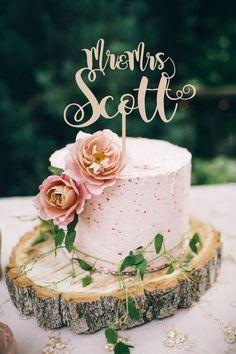 Wedding Cake Topper Mr & Mrs Surname Wedding by WeddingTopLine