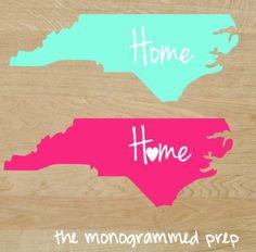 North Carolina, South Carolina  Car Decal Sticker or any other state
