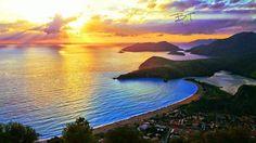 Amazing sunset in #Oludeniz #Turkey