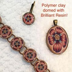 POLYMER PETALS by Sue Herst in WA - Polymer Clay canes made by ETSY maker ikandiclay, were sliced, baked in bezels, then domed with Brilliant Resin. See more of Sue's creations on FB Susan Nemeth Yonkich Herst Resin Crafts, Resin Art, Resin Tutorial, Polymer Clay Canes, Resin Casting, India Jewelry, Resin Molds, Resin Jewelry, Decorative Items