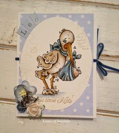 Gummiapan                           : Dopkort Handmade Baby, Handmade Cards, Magnolia Stamps, Baby Cards, Copic, Scrapbooks, Paper Crafts, Creative, Craft Cards