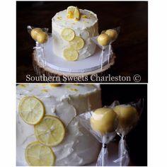 Triple Lemon Cake and Cakepops!  Delicious!!!