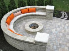 Custom Designed Outdoor Fireplaces and Fire Pits for Your Patio Backyard Plan, Backyard Patio Designs, Diy Patio, Fire Pit Landscaping, Fire Pit Backyard, Backyard Fireplace, Outdoor Fireplaces, Patio Kits, Cool Fire Pits