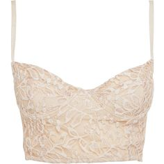Miso Lace Bralet (16 CAD) ❤ liked on Polyvore featuring tops, lingerie, shirts, bralet, print top, bralette tops, lace shirt, patterned tops and round top