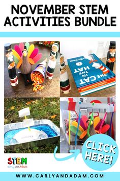 Engage students with STEM this Thanksgiving! Elementary students love completing these Thanksgiving STEM activities and challenges by Carly and Adam! Perfect Thanksgiving activities to go along with any Thanksgiving unit or just fun STEM activities for your students to complete before Thanksgiving break. Click for more details! #STEM