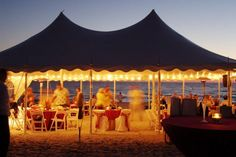 Beach Reception Tented