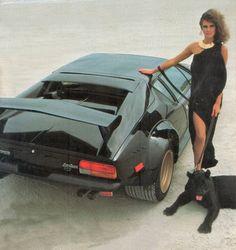 1984 De Tomaso Pantera GT5. A delightfully tacky image, in a 1980's kind of way.