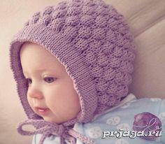 Шапочка – чепчик спицами для малыша