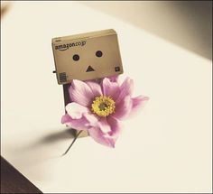 Box Robot, Robot Art, Danbo, Amazon People, Amazon Box, Robots For Kids, Cute Box, Little Boxes, Smiley