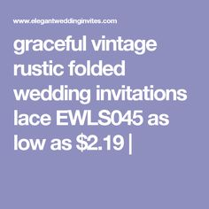 graceful vintage rustic folded wedding invitations lace EWLS045 as low as $2.19  