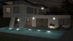 Maison architecte avec piscine, 3D 3d, Architecture, Design, Architect House, Arquitetura, Design Comics, Architecture Design