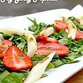Salade d'asperges, fraises et épinards - My Girly Popotte by Mistou