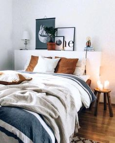26 Rustic Bedroom Design and Decor Ideas for a Cozy and Comfy Space - The Trending House Neutral Bedroom Decor, Home Decor Bedroom, Modern Bedroom, Bedroom Furniture, Bedroom Ideas, Contemporary Bedroom, Bed Ideas, Bedroom Romantic, Warm Bedroom