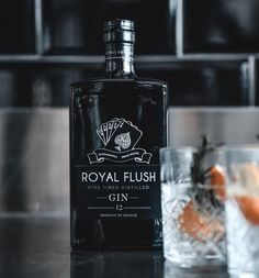 "Royal Flush Gin on Instagram: ""Boldness bottled. #royalflushgin"" Antique Glass Bottles, Brand Inspiration, Gin, Perfume Bottles, Instagram, Perfume Bottle, Jeans, Jin"