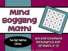 Problem solving doesn't always mean word problems--and this math challenge activity proves it! Perfect for math workshop, for fast finishers, for math enrichment. Third grade, fourth grade, second grade. Addition and subtraction and problem solving. Math Early Finishers, Fast Finishers, Bridges Math, Standards For Mathematical Practice, Math Challenge, Enrichment Activities, Fun Math Games, Math Workshop, Addition And Subtraction