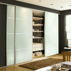 Unique Contemporary standard sliding wardrobe doors designed by Urban Wardrobes