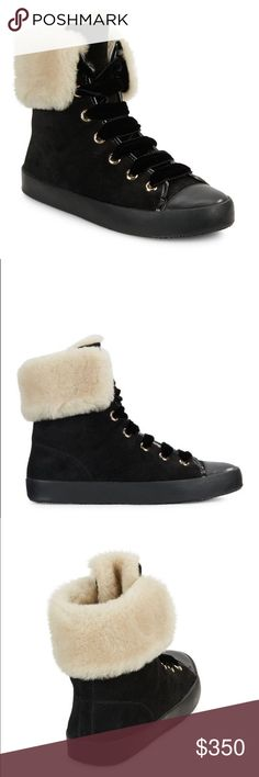 New Black Alice + Olivia Shearling Sneaker US 10 Beautiful Sneakers from Alice + Olivia. Size US 10 but they run small so perfect for a US 9. Alice + Olivia Shoes Sneakers