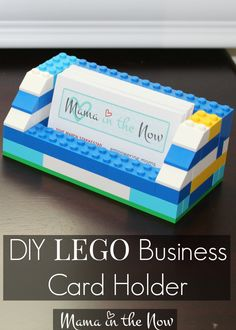 DIY LEGO business card holder, perfect for gift for birthdays, Father's Day or Mother's Day.